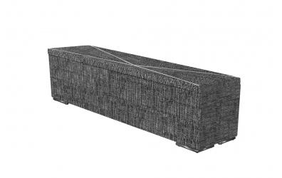 Čalouněný taburet Atlas prošívaný 180 cm, MATERASSO