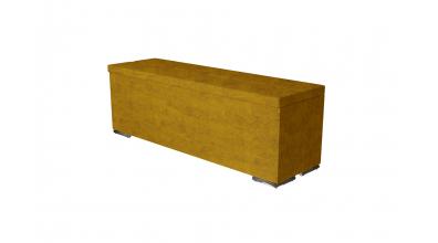 Čalouněný taburet Corona prošívaný 140 cm, MATERASSO