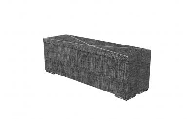 Čalouněný taburet Atlas prošívaný 140 cm, MATERASSO