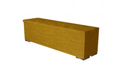 Čalouněný taburet Corona prošívaný 160 cm, MATERASSO