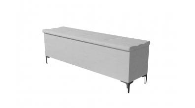 Čalouněný taburet Claudia prošívaný 160 cm, MATERASSO