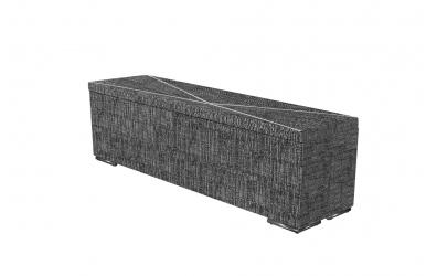 Čalouněný taburet Atlas prošívaný 160 cm, MATERASSO