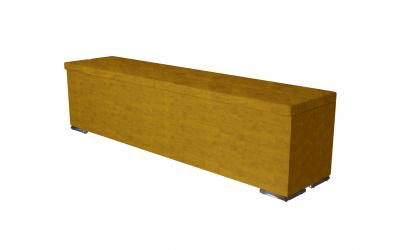 Čalouněný taburet Corona prošívaný 180 cm, MATERASSO