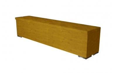 Čalouněný taburet Corona prošívaný 200 cm, MATERASSO