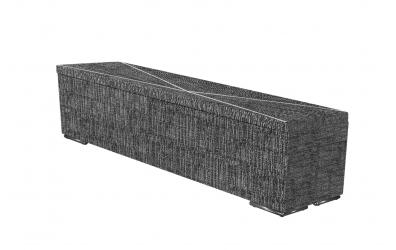 Čalouněný taburet Atlas prošívaný 200 cm, MATERASSO