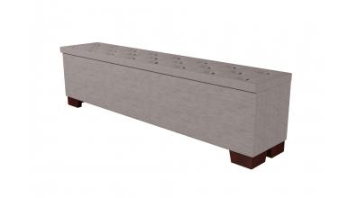 Čalouněný taburet Velorum prošívaný 200 cm, MATERASSO