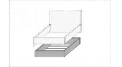 Úložný prostor design bed 120, MATERASSO