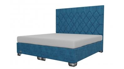 Čalouněná postel boxspring RHOMBUS 200x200, MATERASSO
