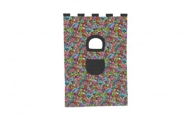 Závěsná textilie COMICS palanda nízká - barevný