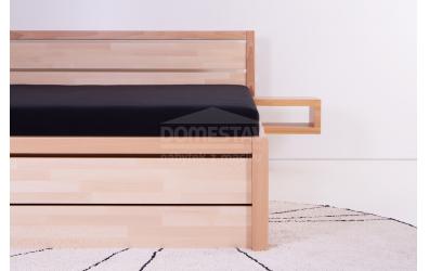 Manželská postel ELEGANT Sofia 160 cm, buk cink