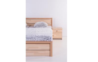 Noční stolek ELEGANT Uni 1, buk cink