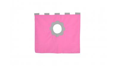 Závěsná textilie zvýšené jednolůžko - růžovo/šedá
