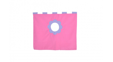 Závěsná textilie zvýšené jednolůžko - růžová