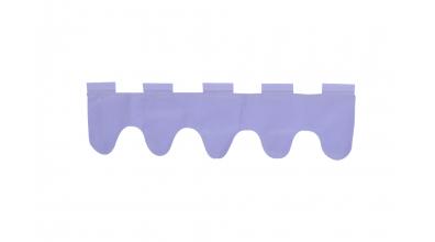 Textilie vlnky fialová