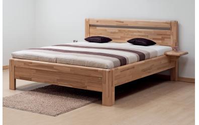 Manželská postel ADRIANA Klasik, 140x200, buk jádrový
