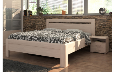 Manželská postel ADRIANA Klasik, 200x200, dub cink