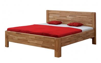 Manželská postel ADRIANA Family, 140x200, dub cink