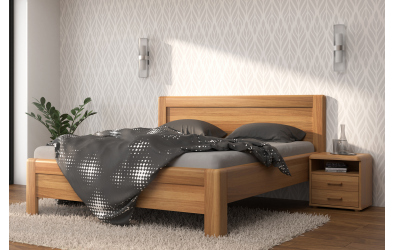 Manželská postel ADRIANA Family, 200x200, dub cink