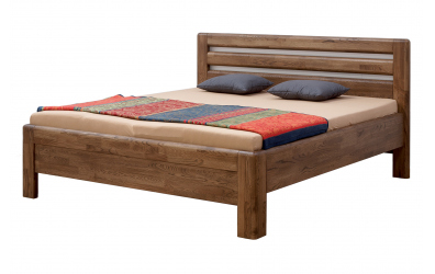 Manželská postel ADRIANA Lux, 140x200, buk jádrový