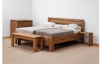 Manželská postel ADRIANA Lux, 200x200, dub cink