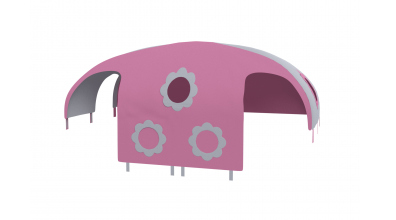 Domeček stan pro dělené čelo a zábranu A B levý - růžovo šedý