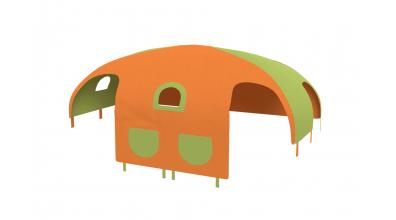 Domeček stan pro dělené čelo a zábranu A B pravý - zeleno/oranžový