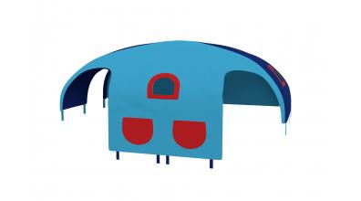 Domeček stan pro dělené čelo a zábranu A B levý - tyrkysovo modrý