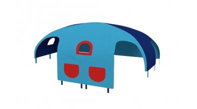 Domeček stan pro dělené čelo a zábranu A B pravý - tyrkysovo/modrý