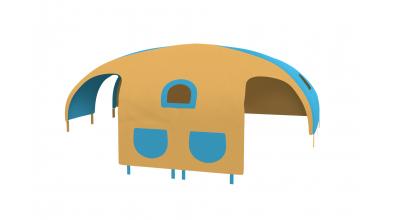 Domeček stan pro dělené čelo a zábranu A B levý - žluto/tyrkysový