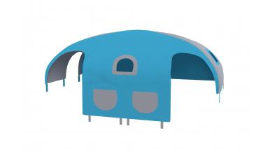 Domeček stan pro dělené čelo a zábranu A B levý - tyrkysovo/šedý