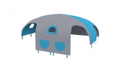 Domeček stan pro dělené čelo a zábranu A B pravý - tyrkysovo/šedý