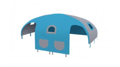 Domeček stan pro zábranu A B - tyrkysovo/šedý