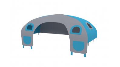 Domeček stan pro zábranu C - tyrkysovo/šedý