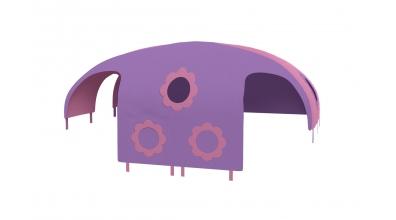 Domeček stan pro dělené čelo a zábranu A B levý - růžovo fialový