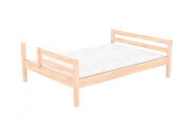 Dvoulůžko dělené čelo levé buk cink, dětská postel z masivu