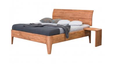 Manželská postel FANTAZIE nastavitelné čelo oblé 180 cm buk cink