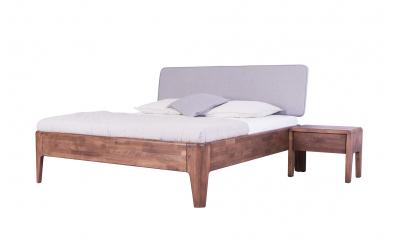 Manželská postel FANTAZIE, čelo čalouněné nízké 180 cm, buk cink