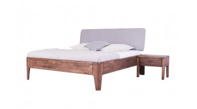Manželská postel FANTAZIE čelo čalouněné nízké 180 cm, dub cink