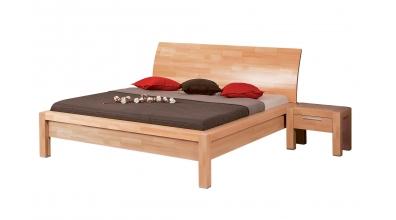 Manželská postel MANON s oblým čelem 180 cm buk cink