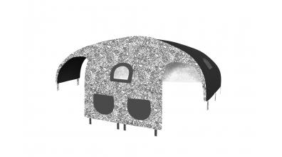 Domeček stan COMICS pro dělené čelo a zábranu A B levý černobílý