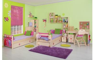 Jednolůžko bez zábrany smrk, dětská postel z masivu