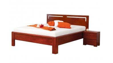 Manželská postel FLORENCIA čelo rovné s výřezy L 180 cm buk cink