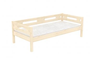 Jednolůžko se zábranou BUBBLES smrk, dětská postel z masivu