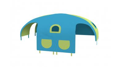 Domeček stan pro dělené čelo a zábranu A B levý - tyrkysovo/zelený