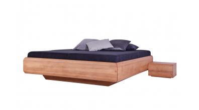 Manželská postel LEVITY bez čela - BUK