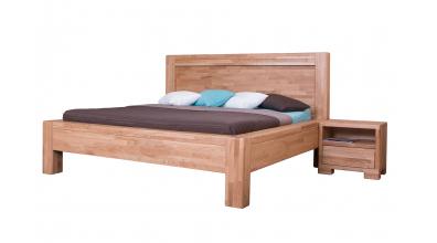 Manželská postel IMPERIA čelo rovné 180 cm dub cink