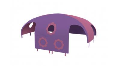 Domeček stan pro dělené čelo a zábranu A B pravý - růžovo/fialoý