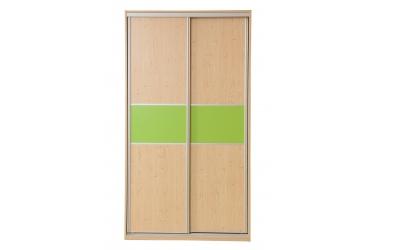 Skříň s posuvnými dveřmi 120 cm lamino
