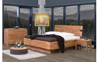 Manželská postel FANTAZIE Grande nastavitelné čelo šikmé 180 cm dub cink