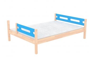 Dvoulůžko BUBLINY dělené čelo levé buk cink, dětská postel z masivu